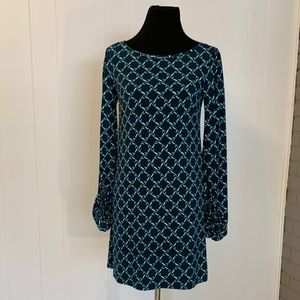 Blue and Green Geometric Pattern Dress by Laundry